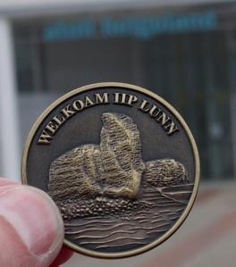 Coin am Ziel angekommen